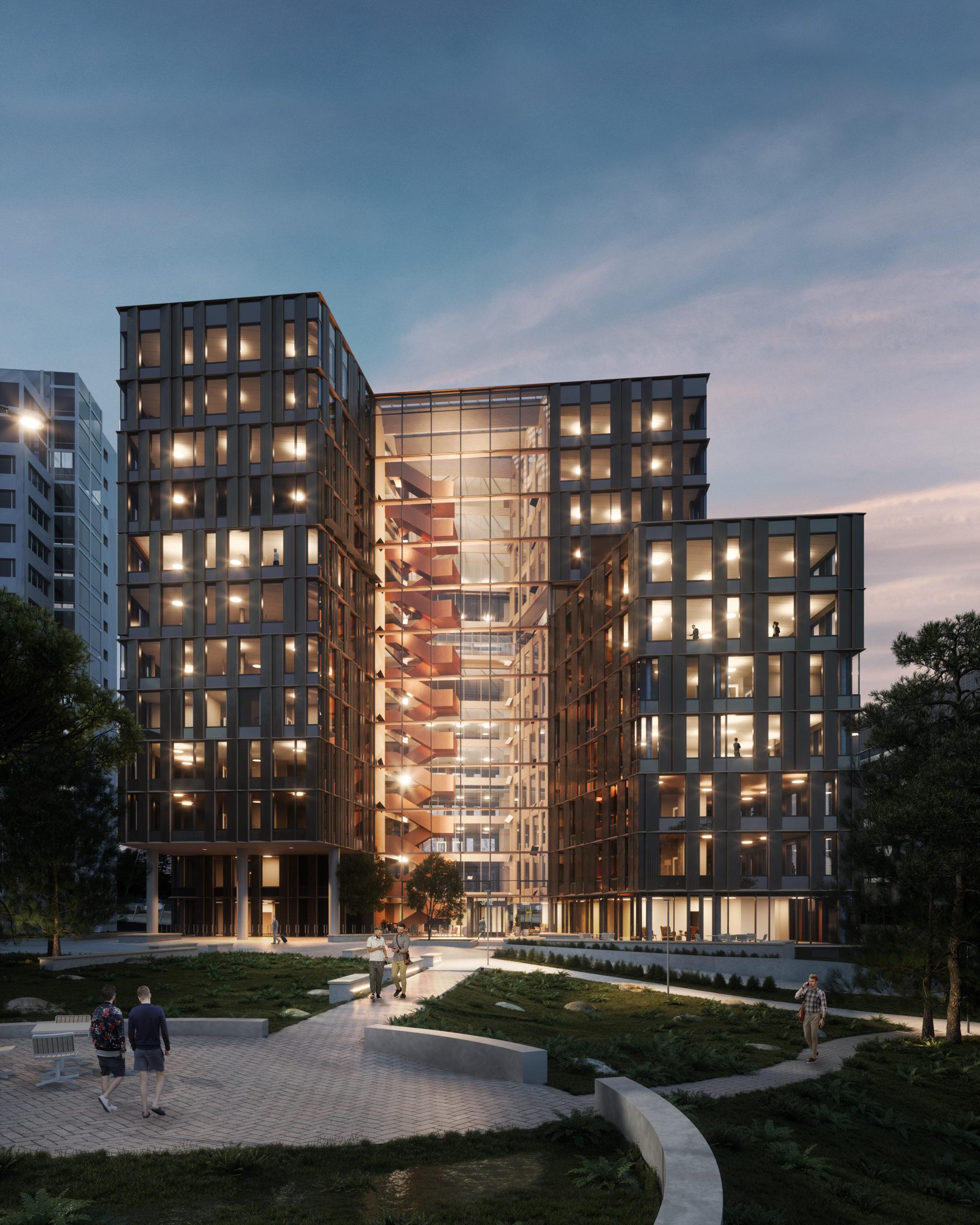 Entra ASA og Magna Prosjekt sør nytt kontorbygg i Oslo